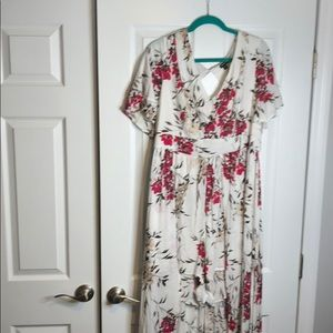 Torrid Floral high/low dress with shorts size 20